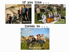 {IF YOU LIKE} beirut, hey Marseilles, then check out fanfarlo!