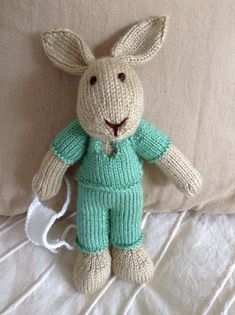 Knit Bunny Toy Doctor by EightLittleFingers on Etsy, $40.00