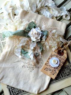 Embellished Muslin Bag