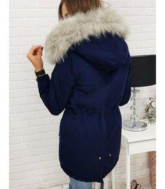 Bunda dámska zimná párka tmavomodrá Parka, Fur Coat, Jackets, Fashion, Down Jackets, Moda, Fashion Styles, Fashion Illustrations, Fur Coats