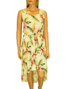 Orchid Pu'a Mid Length Tropical High Low Dress – Twisted Palms Trading Co.