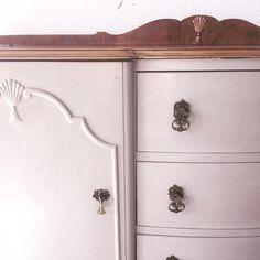 Greta the Ornate Vintage Grey Sideboard by Treemendus on Etsy