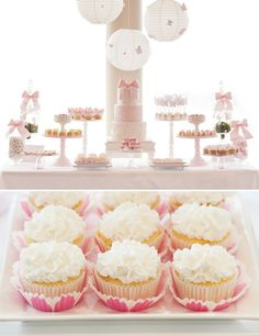 I like the way they've used the different height cake stands- they're the feature, not the food.