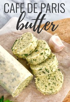 This is my Cafe de Paris butter recipe - great for steaks! Place a slice onto your cooked steak and it melts into the most amazing cafe de paris sauce. If you are looking for an easy recipe for compound butter for steak, this is it! This steak butter is packed with herbs, garlic, mustard and more, this a great keto sauce to keep in the freezer! #chefnotrequired Herb Butter For Steak, Butter For Steaks, Beef Recipes, Cooking Recipes, Steak Sauce Recipes, Water Recipes, Grilling Recipes, Flavored Butter, Butter