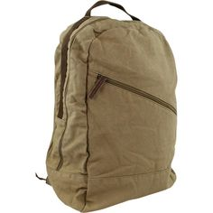 Amazon.com: Vagabond Traveler Khaki Canvas School Backpack (Khaki): Clothing