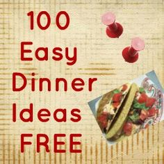 Cheap Quick Easy Dinner Recipes, Quick Dinner Recipes, Healthy Meals - love stuff like this!