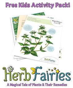 Free Herbal Activity Pack For Kids - Plants and their remedies!