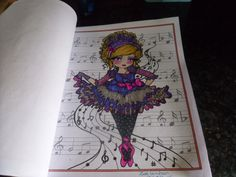 """Ballet Girl"" Book - Mermaids,Fairies And Other Girls of Whimsy Artist - Hannah Lynn Media,Faber Castell Polychromos,Marco Raffines and gel pens."