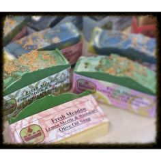 Olive Oil Soaps. Wintergreen and Eucalyptus. This is my Fresh Meadow.