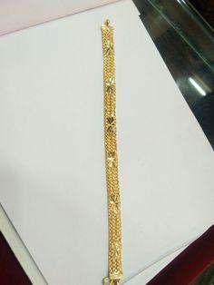 Gents Bracelet, Mens Diamond Bracelet, Mens Gold Bracelets, Gold Plated Bracelets, 24k Gold Jewelry, Gold Jhumka Earrings, Gold Ring Designs, Gold Bangles Design, Gold Mangalsutra Designs