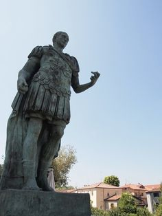 """Julius Caesar statues in Savignano sul Rubicone"" - ""Exploring EmiliaRomagna. Crossing the Rubicon, bees and bikes, and the perfect town"" by @keaneiscool"