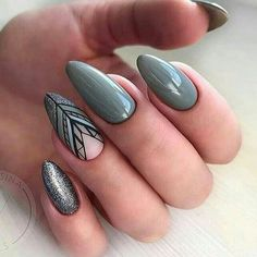 36 Perfect and Outstanding Nail Designs for Winter 2018 36 Perfect and Outstanding Nail Designs for Winter dark color nails; nude and sparkle nails; Dark Color Nails, Dark Nails, Nail Colors, Gel Nails, Acrylic Nails, Winter Nail Designs, Colorful Nail Designs, Gel Nail Designs, Nails Design