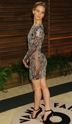 Jennifer Lawrence classic at the Vanity Fair post-Oscar party