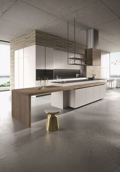 LOOK Kitchen with island SISTEMA Collection by Snaidero design Michele Marcon