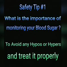 Monitoring your Blood sugar routinely is very important to avoid diabetes complications such as hypoglycemia or hyperglycaemia/ low or high blood sugar. Always make sure to treat it properly. Stay safe