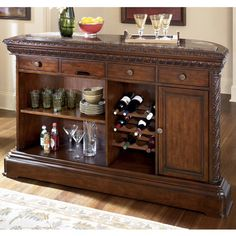Free Standing Bar Dining Room Server Storage Area Rooms