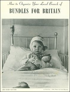 """A World War II poster for """"Bundles for Britain"""" a program started by Natalie Latham a 30-year-old, a twice-divorced, single mother of two. Over the program's short lifetime it raised one million dollars and received 1.5 million more in supplies for the citizens of the U.K. before the U.S. entered World War II. Mrs. Latham died on January 4, 2013 at the age of 103."""