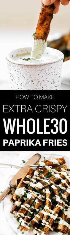 Extra Crispy Paprika Sweet Potato Fries | Paleo Gluten Free Eats
