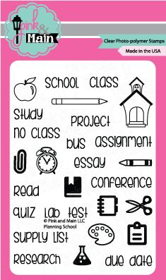 Planning School Stamps - from Pink and Main LLC