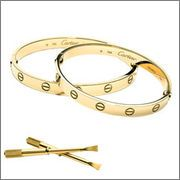 cartier love bracelet! Want this more than an engagement ring..actually have to have both!!!