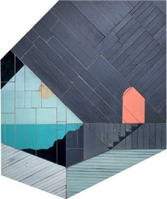 drew tyndell. via design for mankind  not a quilt.  but love this idea of printing/painting organic shapes on blocks.