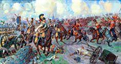 Battle of Leipzig 1813 Russian Cossacks of the guard vs Saxon Zastrowa of Cuirassiers.