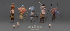 Seems like I worked on this for ages. The village's elders .Un concept qui m'a paru interminable à finir. Les anciens du village. ★ Find more at http://www.pinterest.com/competing/