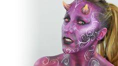 Halloween Devil Makeup / Maquillaje diablesa
