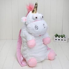Plush Unicorns Children Backpacks Kindergarten Bitherday Gifts For Girls and Boys Cute Plush toys Bags Despicable Me Animal pack Pretty Backpacks, Kids Backpacks, Shiny Fabric, Cute Plush, Birthday Gifts For Girls, Cute Unicorn, Kids Bags, My Animal, Purses And Bags