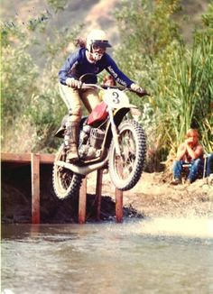 Dee Granger getting air born in a motocross race back in the day... woot!