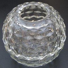 VNTG Indiana AMERICAN WHITEHALL Pressed-Glass Covered Fairy Lamp CUBIST/ART DECO