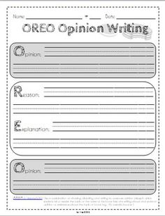 Common Core Graphic Organizers for Opinion Writing - {Grad