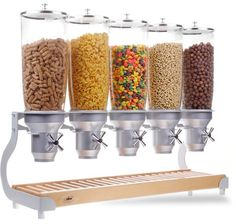 cereal dispenser IDM Ltd.>>> the link doesnt work but I like the dispenser Kitchen Utensils, Kitchen Dining, Kitchen Decor, Kitchen Appliances, Coffee Dispenser, Cereal Dispenser, Cool Kitchen Gadgets, Cool Kitchens, Breakfast Station