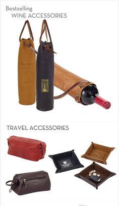 Best Selling Wine & Travel Leather Specialties