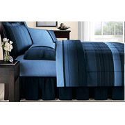 Mainstays Ombre Bed in a Bag Bedding Set, Blue
