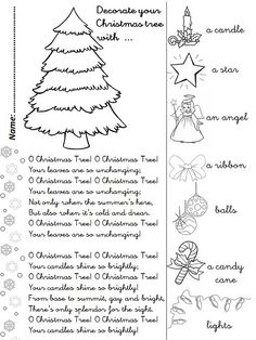 O CHRISTMAS TREE (song + activity sheet)