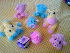 babyshower recuerdos crochet amigurumi