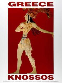 GREECE 1999. KNOSSOS. (Ο Πρίγκηψ με τα κρίνα). Σχεδιαστής σύνθεσης ο Μ. Μανδρέκας.