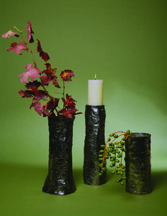 Natura Vases and Candleholders. Home decor by Nima Oberoi Lunares.
