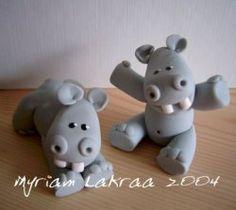 Hypopotame en fimo
