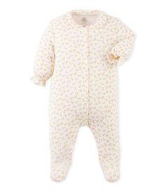 Baby cotton flowered pajamas // Petit Bateau FW16 // Merci Bisous eshop