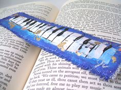 Fine Art Bookmark Piano Blues by HornCatCreations on Etsy, Vancouver Island Etsy Team Member