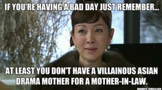 """I thought the Secret Garden mother-in-law was bad...until I started watching Arang and the Magistrate. On hindsight, Kim Eun Oh's """"mother"""" would probably be the worst mother-in-law in the history of mankind."""