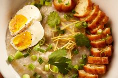 Chicken and Egg Congee @ Malai Kitchen