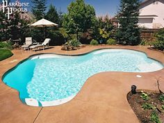 paradise pools classic mountain lake design