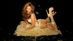 """Lady Gaga is really getting into this """"Cake"""" project. Here's her latest photo that she posted on Facebook with the following quote:  """"The real CAKE isn't HAVING what you want, It's DOING what you want."""""""