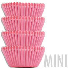 Mini Solid Pink Baking Cups - Layer Cake Shop