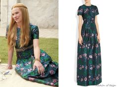 """In the episode 2x04 (""""The Lamb and the Slaughter"""") Greer wears this sold out Erdem Anusha Jacquard Gown. Worn with Deepa Gurnani belt."""
