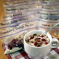 Healthy Instant Oatmeal Packets. 12 make-ahead combos for nutritious breakfasts in a jiffy. With chia seeds  wholesome ingredients.