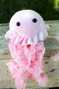 Pink Jellyfish Stuffed Animal Plush Toy by BeeZeeArt on Etsy